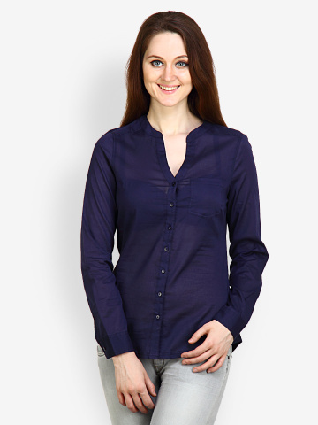 7e9c3c30cf88 Pique-Republic-Women-Navy-Blue -Shirt_e5346d89728598e5960d1d1e7bc72512_images_mini